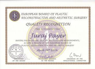 Certifikat EBOPRAS Dr Pajer