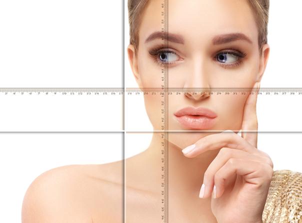 Jedes Gesicht ist individuell und kann eine kleine Asymmetrie aufweisen