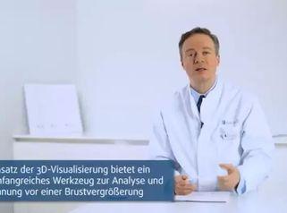 3D-Visualisierung bei einer Brustvergrößerung in der Klinik am Rhein