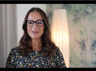Moderatorin Nina Weiß und Ergebnis ihrer Körperformung mit Eigenfett