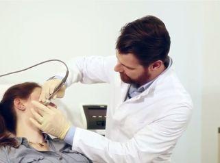 Ergebnis der Entfernung von Aknenarben durch Fractora